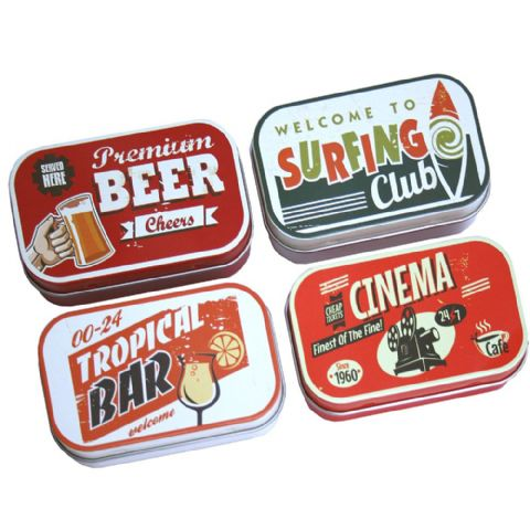 Small Retro Beer Bar Knick-Knack Storage Tins